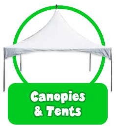 canopies and tents banner