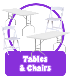 chairs tables banner